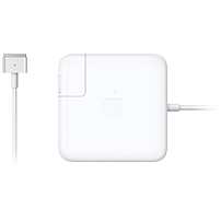 P The 60W MagSafe 2 Power Adapter features a magnetic DC connector so if someone should trip over it, the cord disconnects harmlessly and your MacBook Pro stays put safely