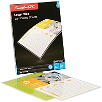 Easy to use self adhesive laminating sheets offer one sided lamination without a laminating machine