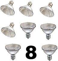 SleekLighting 18418 Halogen 75 Watts Par30 Wide Flood Bulb 8 Pack