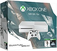 Microsoft Xbox One 5C7 00239 Special Edition Quantum Break Bundle Jaguar Octa Core Processor 500 GB Hard Drive Blu ray Player Wi Fi HDMI