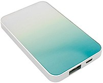 End Scene 5031300072904 Power Bank - Turq Ombre, White Turquoise Ombre