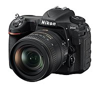Nikon 1560 D500 DX-Format SLR Digital Camera with 16-80mm ED VR Lens - 3.2-inch Touchscreen LCD - 16:9 - 5x Optical Zoom - i-TTL - 5568 x 3712 Image - 3840 x 2160 Video - HDMI - PictBridge - HD Movie