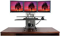 Ergotech 700 ULT 123 BUN One Touch Ultra 1 2 3 Sit Stand Workstation Bundle