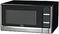 Oster OGYZ1602B Digital Microwave Oven 1.6 Cubic Feet 1100 Watts Black Stainless Steel