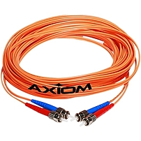 Axiom LC/LC Multimode Duplex OM1 62.5/125 Fiber Optic Cable 3m - Fiber Optic for Network Device - 9.84 ft - 2 x LC Male Network - 2 x LC Male Network LCLCMD6O-3M-AX LCLCMD6O-3M-AX