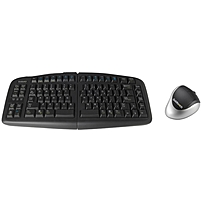 Goldtouch V2 Adjustable Keyboard & Comfort Mouse Bundle - USB Cable Keyboard - USB Wireless Bluetooth Mouse - Optical - 1000 dpi - 3 Button - Scroll Wheel - Right-handed Only (PC, Unix)