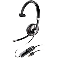 Plantronics Blackwire C710 Headset - Mono - Black - Usb - Wired/wireless - Bluetooth - 20 Hz - 20 Khz - Over-the-head - Monaural - Supra-aural - Noise Cancelling Microphone 87505-02