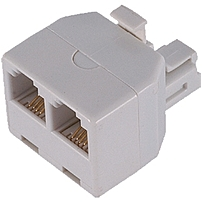GE 76191 White Duplex In Wall Adapter White
