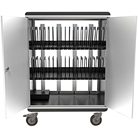 Elmo i-NOVO Charging Security Cart (32 slots) - Steel - 31.3' Width x 20.1' Depth x 36.8' Height