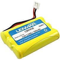 Lenmar CBD958 Nickel Metal Hydride Cordless Phone Battery Nickel Metal Hydride NiMH 3.6V DC CBD 958