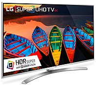 "65UH8500 65"""" Energy Star 4K Super UHD Smart LED TV with webOS 3.0  TruMotion 240Hz  2 3D Glasses  HDR Super with Dolby Vision  Quantum Display and 4K Upscaler:"" 684856"