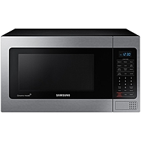 "Samsung Mg11h2020 1.1 Cu. Ft Counter Top Microwave With Grilling Element Stainless Steel - Single - 20.38"" Width - 1.10 Ft Mg11h2020ct/aa"