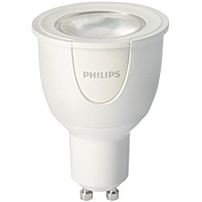 Philips hue White and Color 6.5W GU10 Spot 6.50 W 50 W Incandescent Equivalent Wattage 230 V AC 300 lm Spot Warm White Light Color GU10 Base 25000 Hour 6740.3 deg;F 3726.8 deg;C Color Temperature 80 C