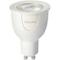 Philips hue White and Color 6.5W GU10 Spot 6.50 W 50 W Incandescent Equivalent Wattage 230 V AC 300 lm Spot Warm White Light Color GU10 Base 25000 Hour 6740.3 deg;F 3726.8 deg;C Color Temperature 80 C