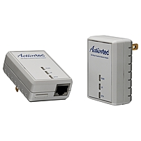 Actiontec 500 Mbps Powerline Network Adapter Kit - 1 x Network (RJ-45) - 500 Mbit/s Powerline - 984.25 ft Distance Supported - HomePlug AV - Fast Ethernet PWR511K01 PWR511K01