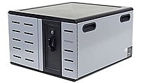 Ergotron DM12-1012-1 Notebook Cabinet - Up to 14-inch Screen Support - Desktop - Steel - Black / Silver