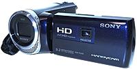 Sony HDR PJ340 LI 9.2 Megapixel HD Handycam Camcorder 30x Optical 350x Digital 2.7 inch LCD Display Blue