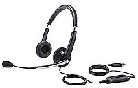 Dell 3WTMD USB Stereo Headset with Boom Microphone Black