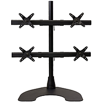 Ergotech 100 D28 B22 HD Quad HD LCD Monitor Desk Stand 28 inch pole Black Quad 2 over 2 w Heavy Duty Stand