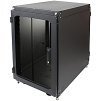 Rack Solutions 16U Office Cabinet with Key Lock 16U Wide x 29 quot; Deep for Server Black 1200 lb x Maximum Weight Capacity 151 3500