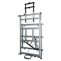 Balt Elevation Wall Mount for Whiteboard Cart Projector 125 lb Load Capacity Platinum 27589