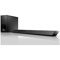 Sony HT-CT380 2.1 Sound Bar Speaker - 300 W RMS - Wall Mountable - Wireless Speaker(s) - Black - Dolby Digital, Dolby TrueHD, Dolby Digital Plus, Dolby Dual Mono, DTS, DTS 96/24, DTS HD - Bluetooth - Near Field Communication - Wireless Audio Stream, Bass