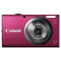 "Canon PowerShot A2300 16 Megapixel Compact Camera - Red - 2.7"" LCD - 16:9 - 5x Optical Zoom - 4x - Optical, Digital (IS) - 4608 x 3456 Image - 1280 x 720 Video - PictBridge - HD Movie Mode 6192B001"