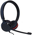 Jabra Evolve 30 MS Stereo Stereo Wired Over the head Binaural Supra aural Noise Cancelling Microphone 5399 823 109