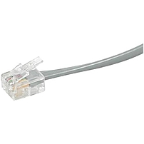 C2G 25ft RJ11 6P4C Straight Modular Cable RJ 11 Male RJ 11 Male 25ft Silver 02973