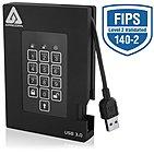 Apricorn A25-3PL256-1000F Aegis Padlock 1 TB External Hard Drive - USB 3.0 - 5400rpm - 8 MB Buffer - Portable