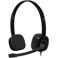 Logitech Stereo Headset H151 Stereo Black Mini phone Wired 22 Ohm 20 Hz 20 kHz Over the head Binaural Supra aural 5.91 ft Cable Yes 981 000587