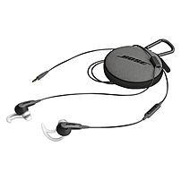Bose SoundSport In ear Headphones Samsung And Android Devices Stereo Charcoal Black Mini phone Wired Earbud Binaural In ear 3.51 ft Cable 741776 0070