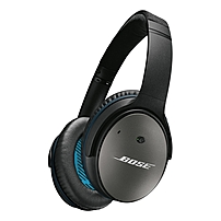 Bose QuietComfort 25 Acoustic Noise Cancelling Headphones Stereo Black Wired Over the head Binaural Circumaural 4.66 ft Cable Yes 715053 0010