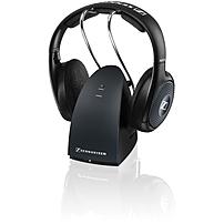 Sennheiser RS 135 Headphone Stereo Black Mini phone Wired Wireless RF 330 ft 24 Ohm 22 Hz 19.50 kHz 65 dB A SNR Over the head Binaural Supra aural 506298