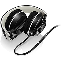 Sennheiser On Ear Headphones Stereo Black Mini phone Wired 18 Ohm 16 Hz 22 kHz Over the head Binaural Supra aural 3.94 ft Cable Omni directional Microphone 506086