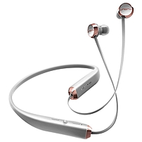 Sol Republic Shadow Earset Stereo Rich Gray Rose Wireless Bluetooth 30 ft Earbud Behind the neck Binaural In ear 1140 04