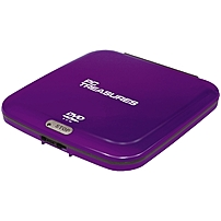 Digital Treasures 07255 External DVD Reader Purple DVD ROM Support