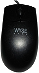 Wyse Optical Mouse - Optical - PS/2 - Black