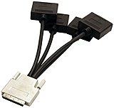 Visiontek VHDCI to 4x DVI-D Cable (M/F) - DVI/VHDCI for Video Device - VHDCI Video - 4 x DVI-D Video - Black