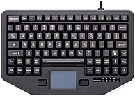 iKey IK-TR-88-911-TP-WHT Rugged Mobile Keyboard for Service Vehicles