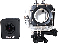 LiveShot J30M Cube Mini HD Action Camera with Wi Fi Up to 32 GB microSD Card Supported H.264 compression Black