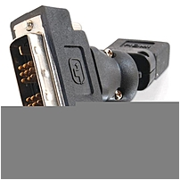 C2G 360° Rotating HDMI Female to DVI-D Male Adapter - 1 x HDMI Female Digital Audio/Video - 1 x DVI-D Male Digital Video - Black