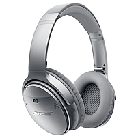 Bose QuietComfort 35 Wireless Headphones Stereo Silver Wireless Bluetooth Over the head Binaural Circumaural Yes 759944 0020