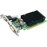 EVGA 512 P3 1301 KR GeForce 8400 GS Graphic Card 520 MHz Core 512 MB DDR3 SDRAM PCI Express 2.0 x16 1200 MHz Memory Clock 32 bit Bus Width 2560 x 1600 SLI DirectX 10.0 OpenGL 3.1 1 x HDMI 1 x VGA 1 x