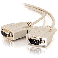C2G 10ft DB9 M F Extension Cable Beige DB 9 Male DB 9 Female 10ft 02712