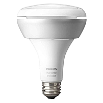 Philips hue White and Color Ambiance BR30 Bulb 8 W 120 V AC 230 V AC 630 lm BR30 Size White Light Color 25000 Hour 6740.3 deg;F 3726.8 deg;C Color Temperature 180 deg; Beam Angle Dimmable 456665