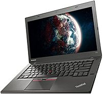 Lenovo Think Pad T450 20BUS0T100 Notebook PC - Intel Core i5-5300U 2.3 GHz Dual-Core Processor - 8 GB DDR3L RAM - 128 GB SSD - 14-inch LED-backlit Display - Windows 8.1 Pro 64-bit/Windows 7 Pro 64-bit