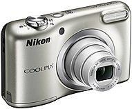"Nikon Coolpix A10 16.1 Megapixel Compact Camera - Silver - 2.7"" LCD - 16:9 - 5x Optical Zoom - 4x - TTL - 4608 x 3456 Image - 1280 x 720 Video - HD Movie Mode 26518 26518"