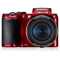 """Samsung WB100 16.2 Megapixel Compact Camera - Red - 3"""" Touchscreen LCD - 26x Optical Zoom - 5x - Digital, Optical (IS) - 4608 x 3456 Image - 1280 x 720 Video - HDMI - HD Movie Mode EC-WB100ZBARUS"""