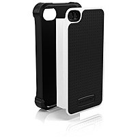 Ballistic iPhone 4/4S Shell Gel SG Series Case - iPhone - Black, White - Polycarbonate, Silicone, Polymer